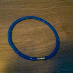 Swarovski Royal Blue Gemstone Mesh Bracelet